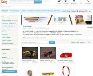 Mudeno Shop auf Etsy