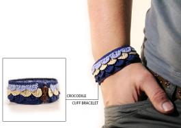 crochet bracelet pattern crocodile cuff by MudenoMade