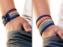 crochet pattern - stacking bracelet by MudenoMade