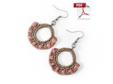 crochet earrings pattern by MudenoMade