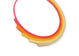 bunte bib halskette - colorful bib necklace