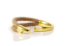 Seil Armband gold