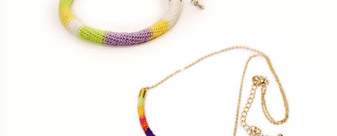 free crochet pattern rope bracelet and rope necklace
