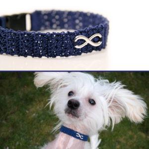 dünnes Hundehalsband handgemacht