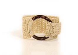 Crochet pattern cuff bacelet Mudenomade mudeno